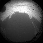 Curiosity y su sombra en Marte