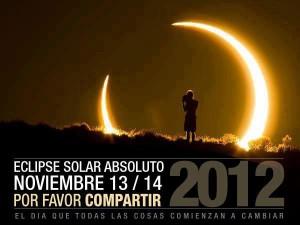 Propaganda New Age del eclipse solar absoluto del 13 de noviembre