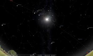 Cielo en el Stellarium desde La Plata, el 21 de diciembre de 2012 a las 12:12 h