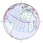 Camino del eclipse de noviembre de 2013