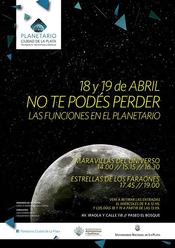 Folleto de Semana Santa del Planetario de La Plata