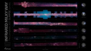 GLIPMSE 360: el mapa más completo de la Vía Láctea en el infrarrojo jamás creado