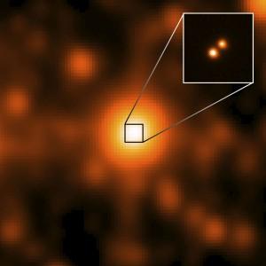 imagen de uno de los sistemas estelares más cercanos al sistema solar, detectado por WISE