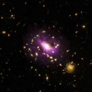 el poder extremo de un agujero negro revelado por chandra en el cumulo de galaxias RX J1532.9+3021